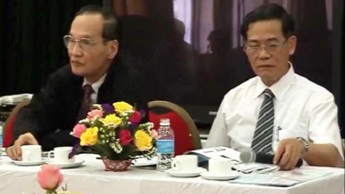 PGS.TS Nguyễn Mạnh Nhâm và PGS.TS Lê Lương Đống
