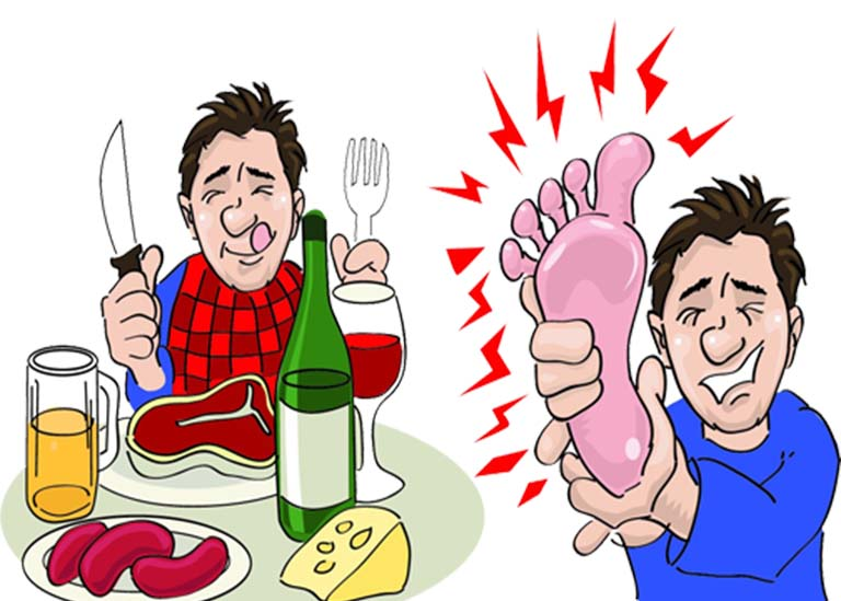 thực đơn cho người bị bệnh gout