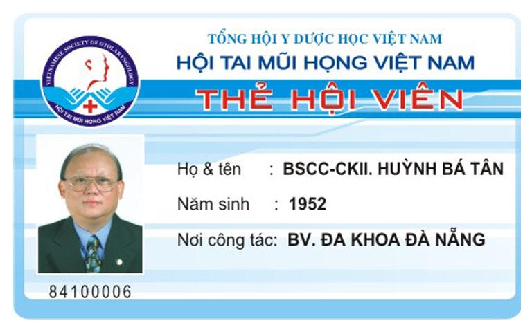 phòng khám Tai mũi họng của bác sĩ Huỳnh Bá Tân