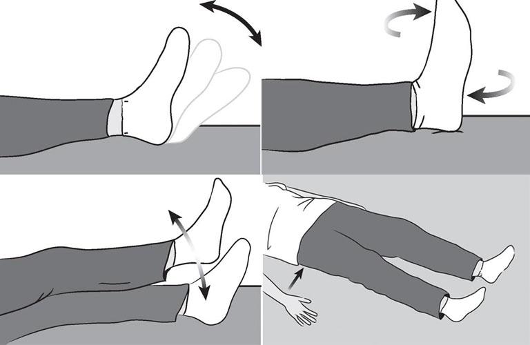 bài tập vận động sau khi thay khớp háng