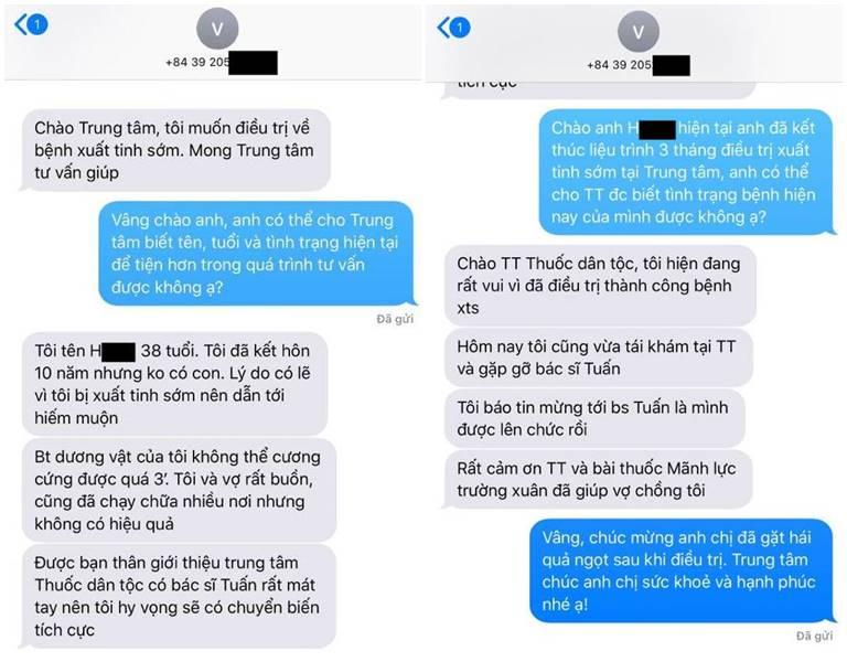Bệnh nhân trao đổi về hiệu quả của Mãnh lực trường xuân với bác sĩ