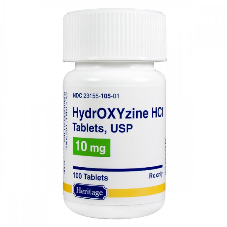 Thông tin về thuốc Hydroxyzine HCL 10mg