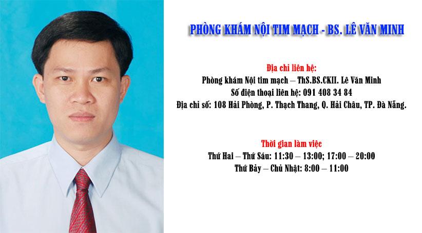 ThS.BS Lê Văn Minh, Phó trưởng khoa Nội tim mạch bệnh viện Đa khoa Đà Nẵng
