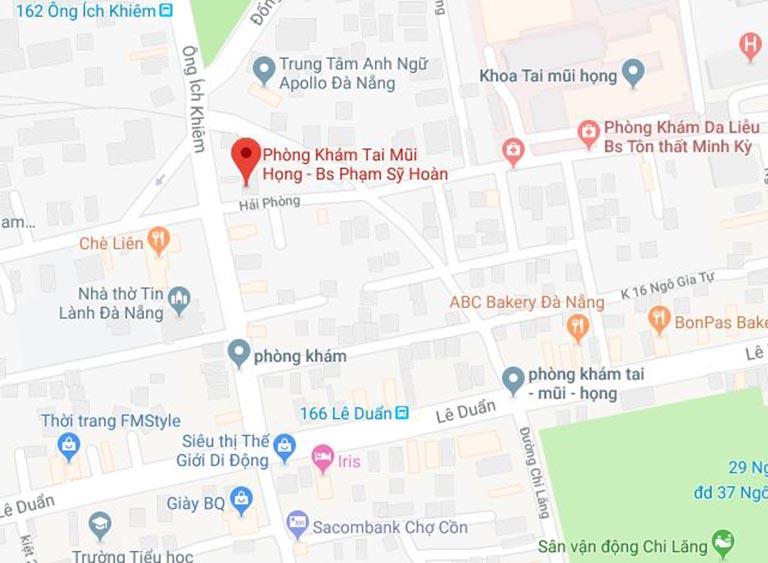phòng khám Tai mũi họng của bác sĩ Phạm Sỹ Hoãn