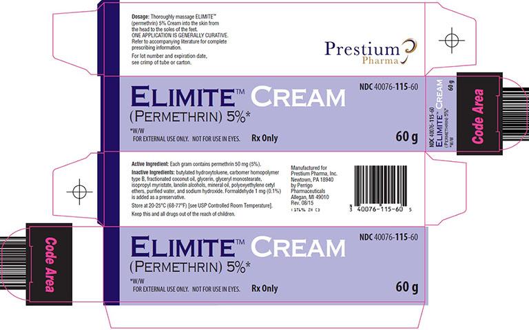 Thông tin về thuốc Elimite