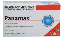 Thuốc Panamax 500 mg được dùng để giảm đau, hạ sốt.