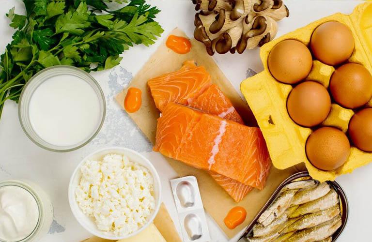 bổ sung chất dinh dưỡng như canxi, vitamin D