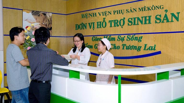 Các khoa phòng tại bệnh viện phụ sản Mêkông