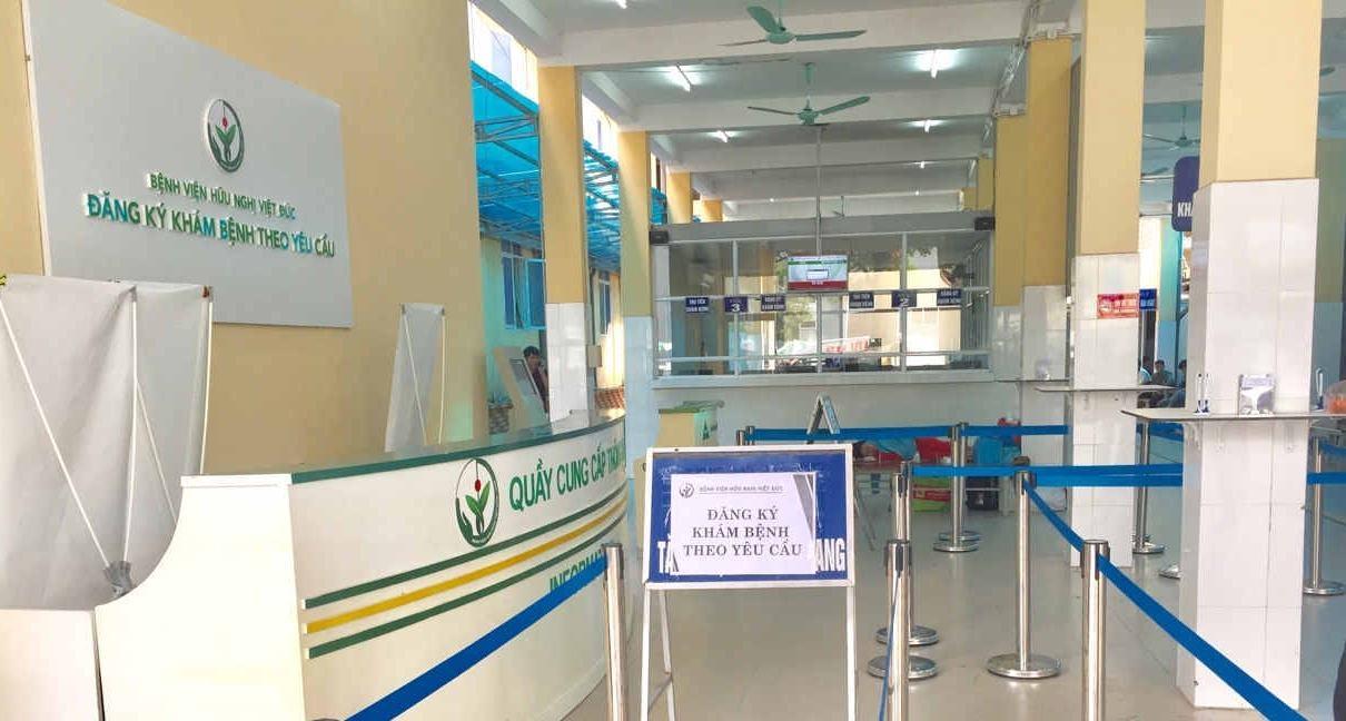 quy trình khám bệnh tại bệnh viện Hữu Nghị Việt Đức
