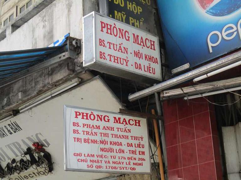 phòng khám da liễu bác sĩ Trần Thị Thanh Thủy