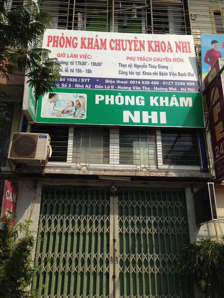 Phòng khám Nhi - Bác sĩ Nguyễn Thùy Giang