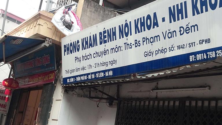 Phòng khám Nội khoa - Nhi khoa - Bác sĩ Phạm Văn Đếm