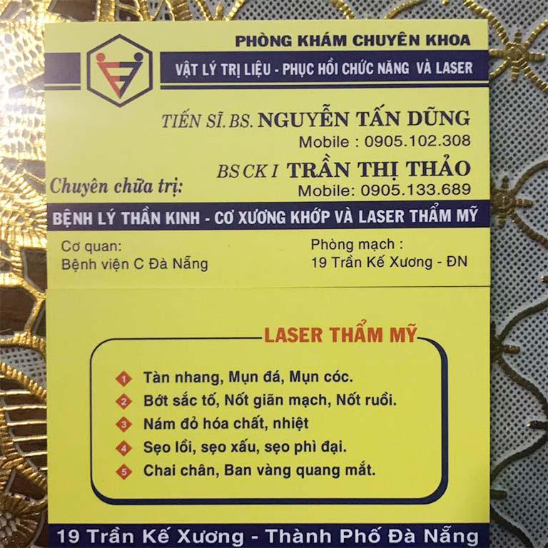 Phòng khám chuyên khoa Phục hồi chức năng - Bác sĩ Nguyễn Tấn Dũng