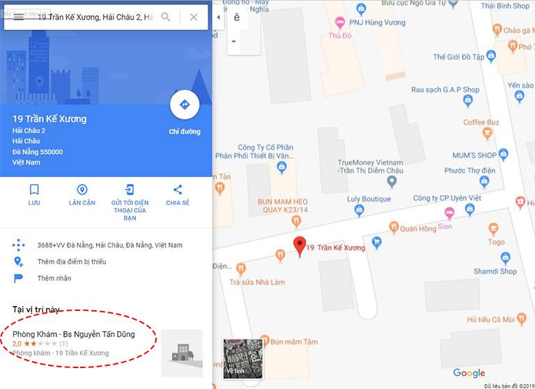 địa chỉ phòng khám