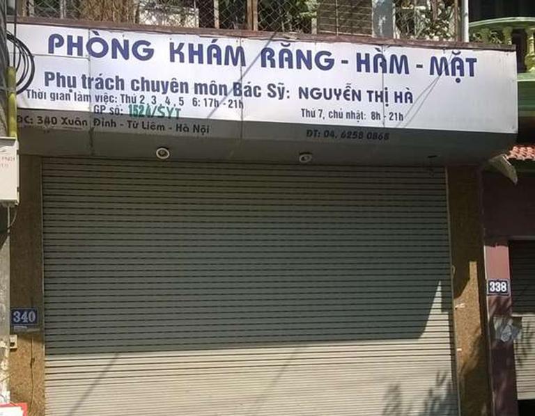 Phòng khám Răng Hàm Mặt - Bác sĩ Nguyễn Thị Hà