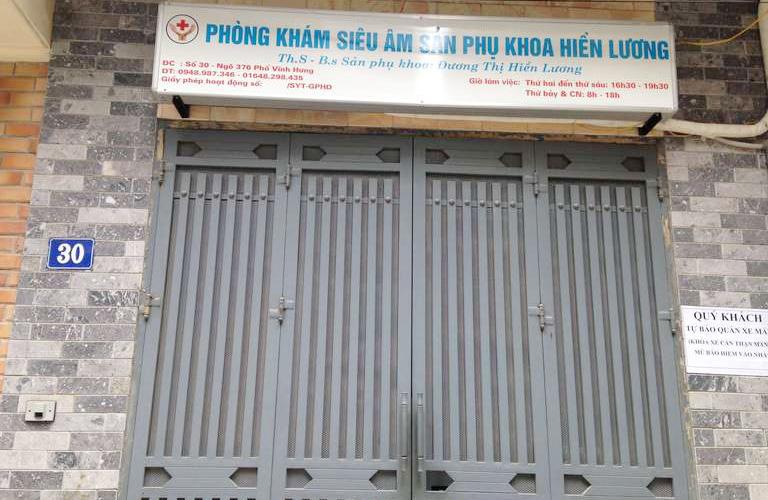 Phòng khám Siêu âm Sản phụ khoa - Bác sĩ Hiền Lương