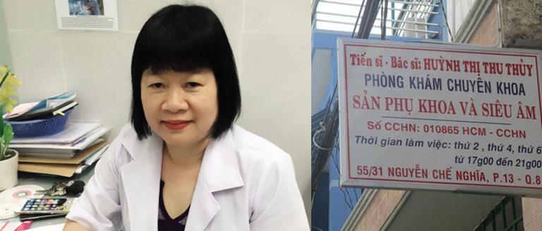 Phòng khám sản phụ khoa bác sĩ huỳnh Thị Thu Thủy