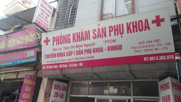 Phòng khám Sản phụ khoa - Bác sĩ Trần Thị Minh Nguyệt