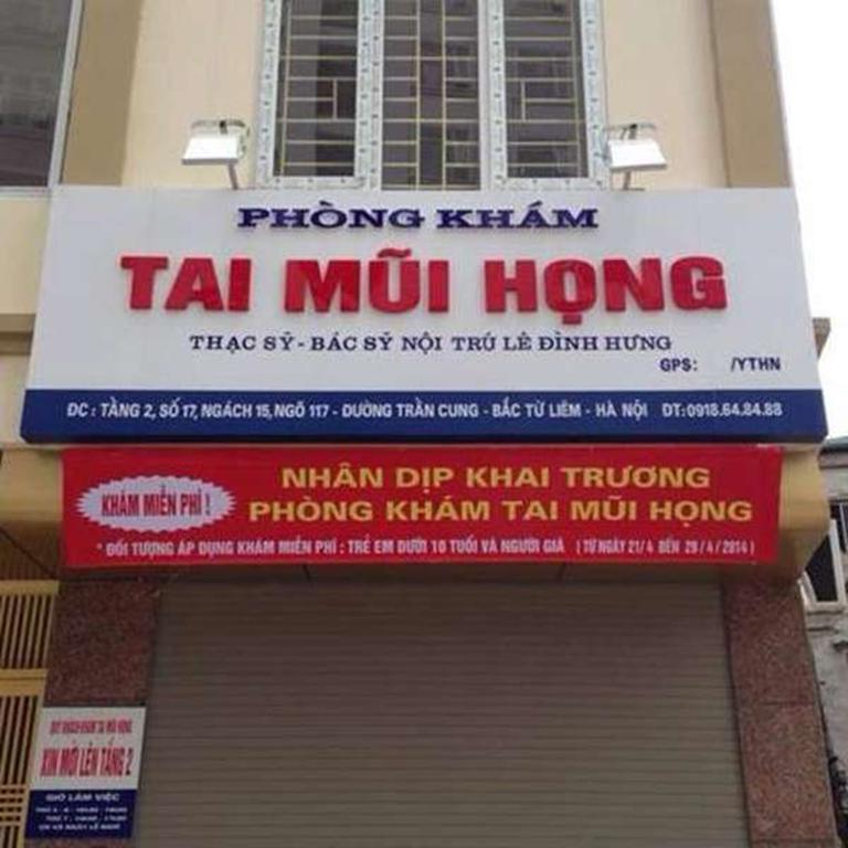 Phòng khám Tai Mũi Họng - Bác sĩ Lê Đình Hưng