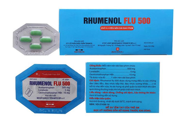 thuốc cảm cúm Rhumenol Flu 500