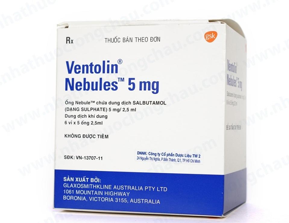 Ventolin Nebules - Dung dịch khí dung trị hen thông dụng