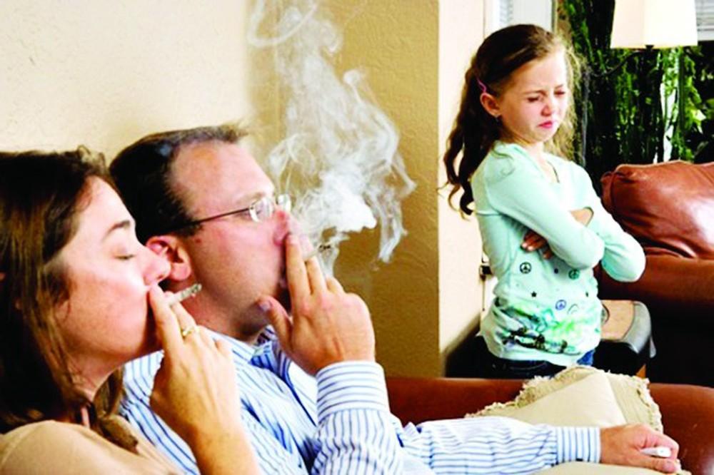 trẻ em bị nhiễm nicotine