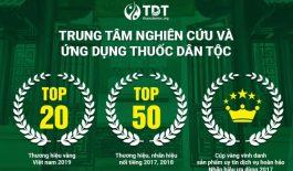 Giải thưởng và chứng nhận cao quý của Trung tâm Thuốc dân tộc