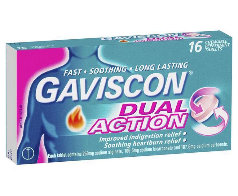 công dụng và liều dùng Gaviscon dual action