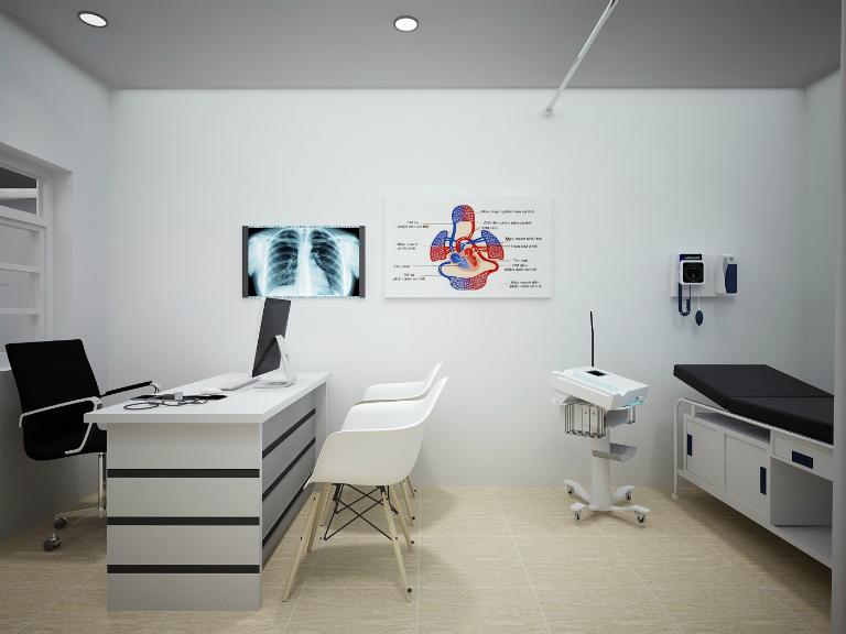 Phòng khám của bác sĩ Lê Ngọc Hải được trang bị đầy đủ các thiết bị kỹ thuật cao.
