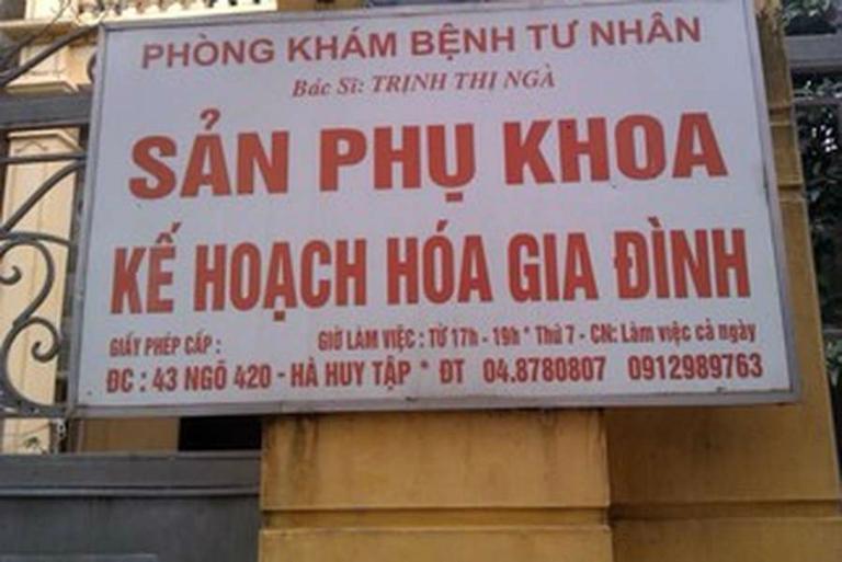 Phòng khám Phụ sản - Kế hoạch hóa gia đình của bác sĩ Trịnh Thị Ngà có các dịch vụ khám, tư vấn và chữa bệnh phụ khoa, thai sản (Gia Lâm, Hà Nội)