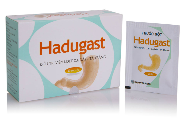 Thuốc Hadugast là thuốc bột điều trị bệnh viêm loét dạ dày và tá tràng.