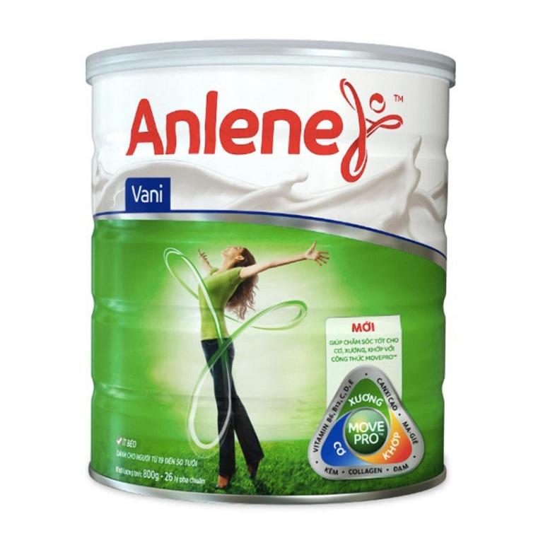 Sữa Anlene giúp bổ sung canxi cho xương