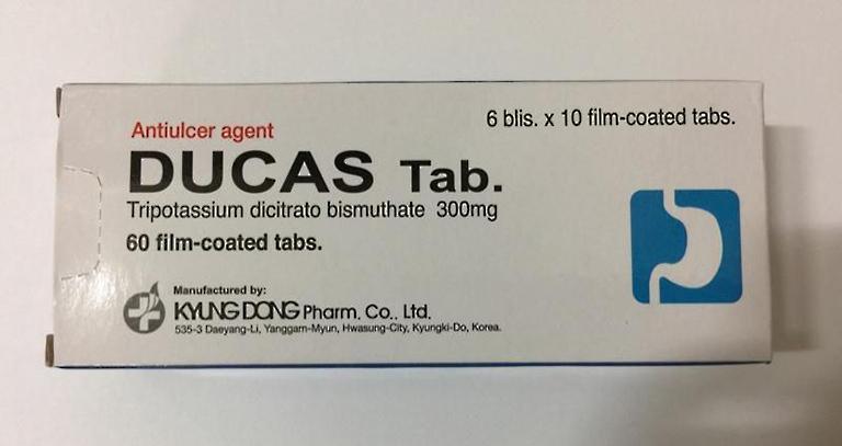 Thuốc Ducas Tab điều trị loét dạ dày tá tràng