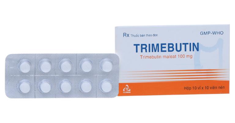 Trimebutin thuộc nhóm thuốc về đường tiêu hóa, có công dụng điều trị các bệnh như loét dạ dày, tá tràng, trào ngược dạ dày, buồn nôn,…