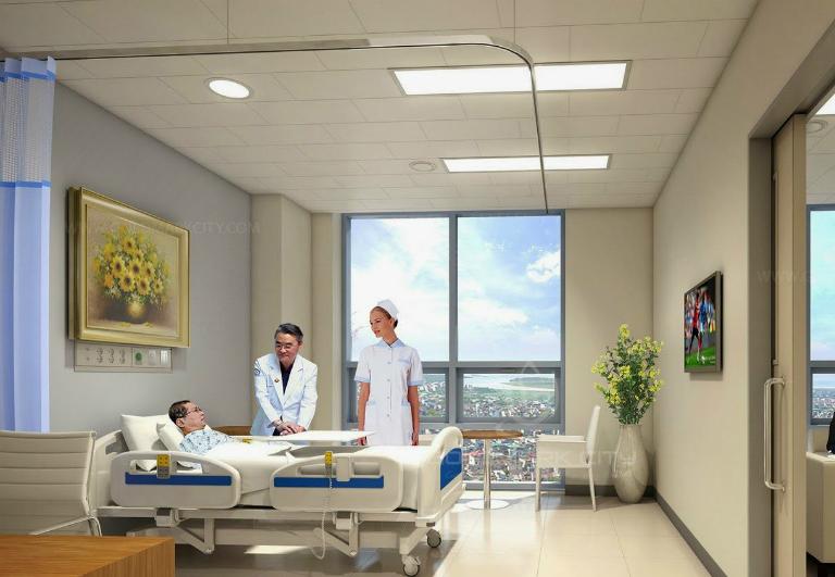 Bệnh viện trang bị đầy đủ các trang thiết bị chất lượng cao, đa phần đều nhập từ Pháp, Mỹ, Hà Lan,... phục vụ cho việc khám bệnh, xét nghiệm và điều trị.