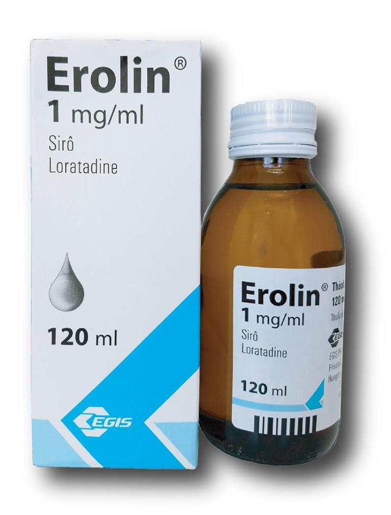 Thuốc Erolin dạng viên siro