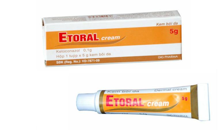 Thuốc Etoral điều trị các bệnh như nấm ngoài da, lang beng, viêm da tiết bã.