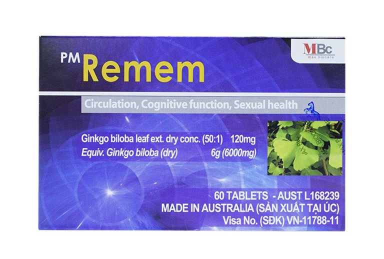 Thuốc PM Remem là thuốc có tác dụng hỗ trợ điều trị di chứng tai biến mạch máu não, các bệnh liên quan đến hệ thần kinh, suy giảm trí nhớ.
