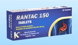 Thuốc Rantac là thuốc được dùng để điều trị các triệu chứng của viêm loét dạ dày, tá tràng và trào ngược axit.