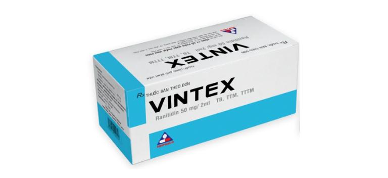 Thuốc Vintex là dung dịch tiêm, dùng để điều trị một số bệnh về đường tiêu hóa.