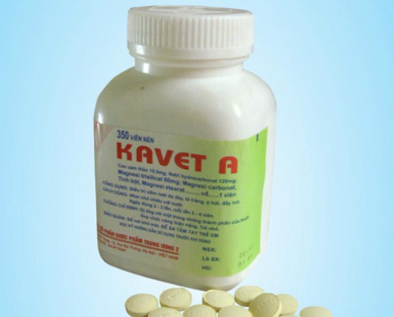 Thuốc Kavet A dùng để điều trị bệnh viêm loét dạ dày và tá tràng.