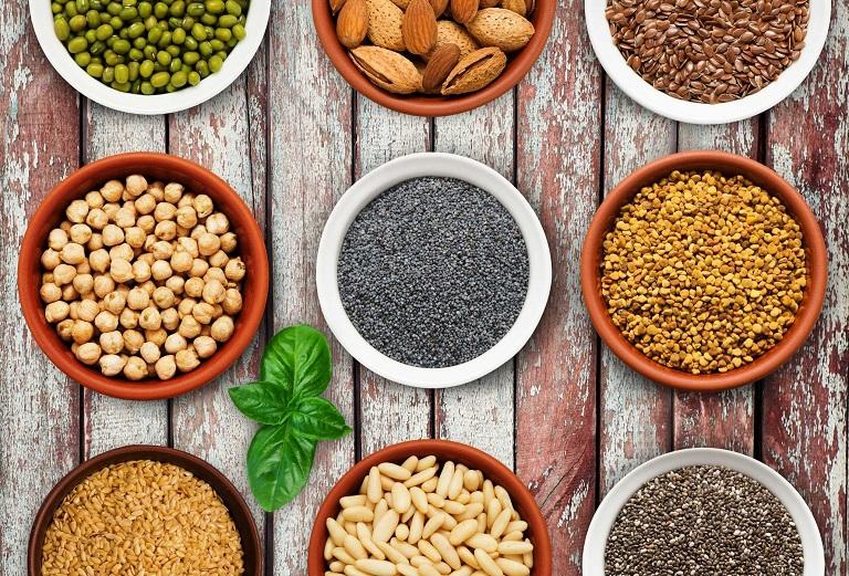 Các loại hạt và đậu rất tốt cho cơ bắp