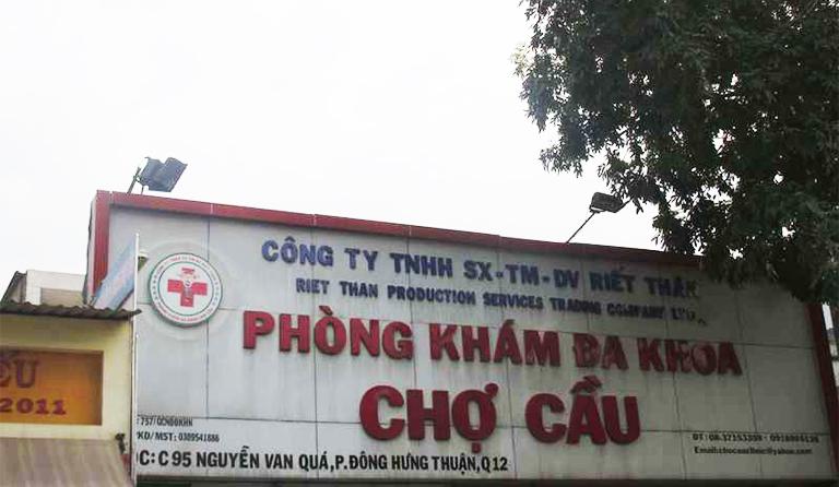 Phòng khám Đa khoa Chợ Cầu tọa lại tại C95 Nguyễn Văn Qúa, Phường Đông Hưng Thuận, Quận 12, TP.HCM