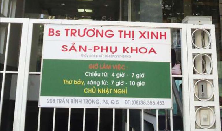Phòng khám Sản Phụ khoa - Bác sĩ Trương Thị Xinh