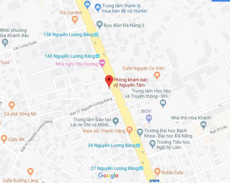 địa chỉ liên hệ phòng khám Nhi bác sĩ Nguyễn Tâm