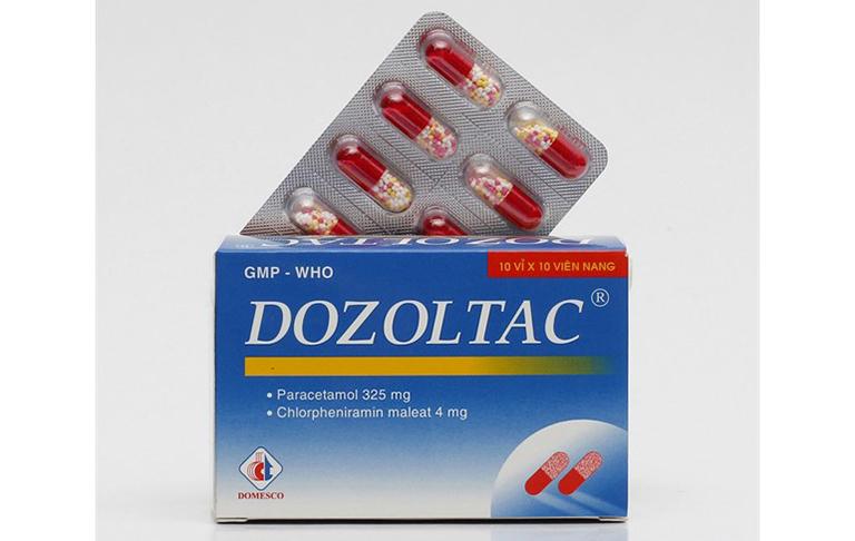 Thành phần chính của thuốc Dozoltac: Paracetamol, có tác dụng giảm đau, hạ sốt