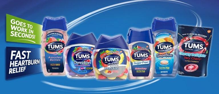 Các dòng sản phẩm của thuốc Tums