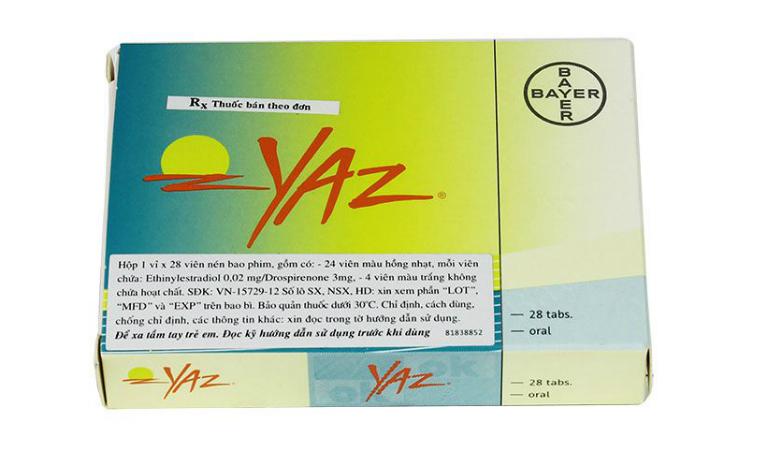 Thuốc Yaz là thuốc có công dụng trong việc tránh thai, điều trị mụn trứng cá, trầm cảm ở phụ nữ,...
