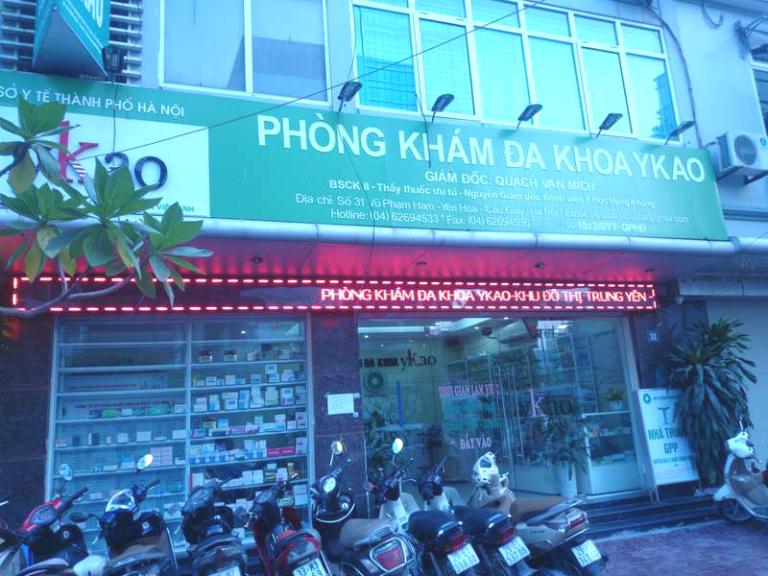 Phòng khám Đa khoa Ykao tọa lạc tại quần Cầu Giấy, Thành phố Hà Nội.