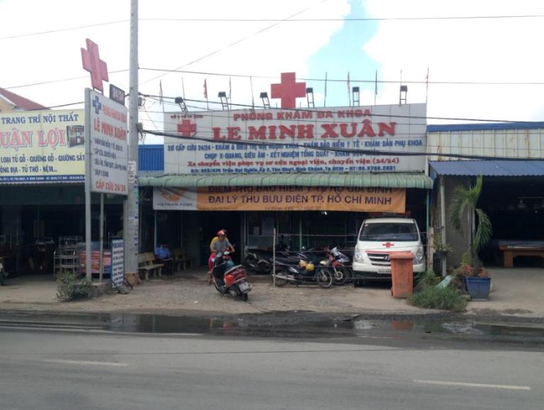 Phòng khám Đa khoa Lê Minh Xuân tọa lạc tại huyện Bình Chánh, Thành phố Hồ Chí Minh.